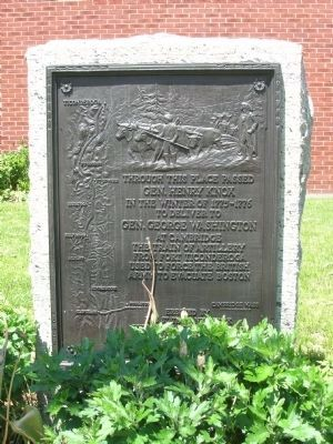 Gen. Henry Knox Trail Marker, Latham, New York image. Click for full size.