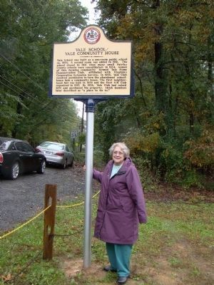 Mrs. Elsa Norris and the Marker image. Click for full size.