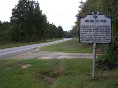 Biggin Church Marker, as seen looking south along State Road 402 image. Click for full size.