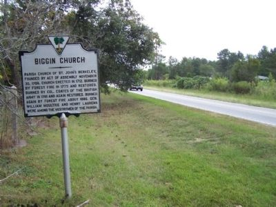 Biggin Church Marker as seen looking north image. Click for full size.
