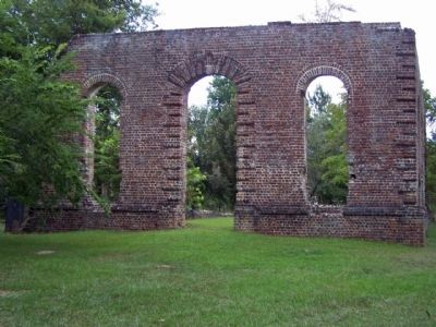 Biggin Church ruins image. Click for full size.
