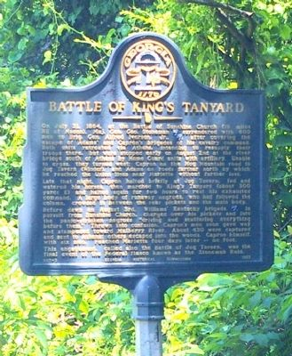 Battle of King's Tanyard Marker image. Click for full size.