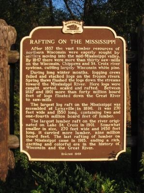 Rafting on the Mississippi Marker image. Click for full size.