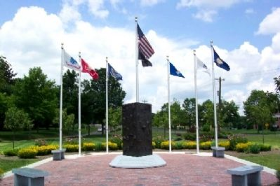 Community Service and Veterans Memorial image. Click for full size.