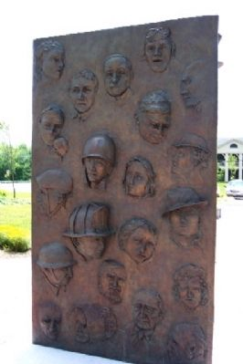 Community Service and Veterans Memorial Panel image. Click for full size.