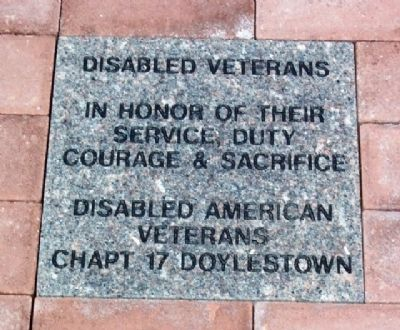 Community Service and Veterans Memorial DAV Paver image. Click for full size.