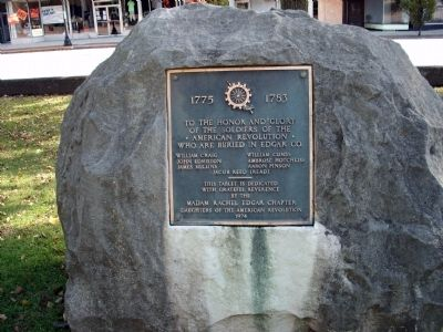 1974 Plaque - - American Revolution War Memorial - Edgar County Illinois Marker image. Click for full size.
