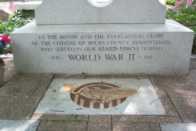 Bucks County World War II Memorial Dedication image. Click for full size.