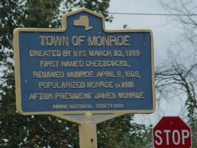 Town of Monroe Marker image. Click for full size.