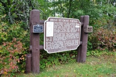 Brule-St. Croix Portage Marker image. Click for full size.