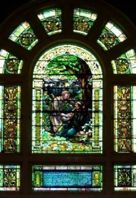 Tiffany Stained Glass Window in Chapel Mausoleum image. Click for full size.