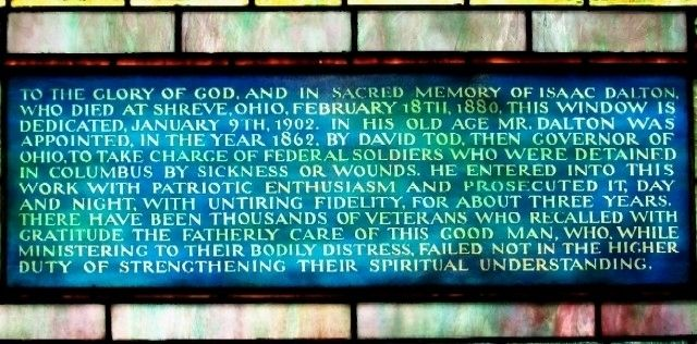 Tiffany Stained Glass Window Dedication in Chapel Mausoleum image. Click for full size.
