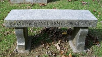 Ladies of the Grand Army of the Republic Memorial Bench image. Click for full size.