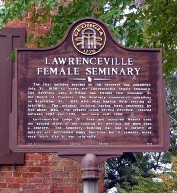 Lawrenceville Female Seminary Marker image. Click for full size.