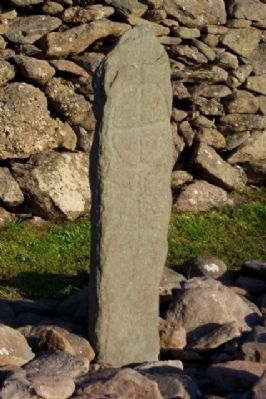 Engraved Cross-Slab on the Oratory Grounds image. Click for full size.