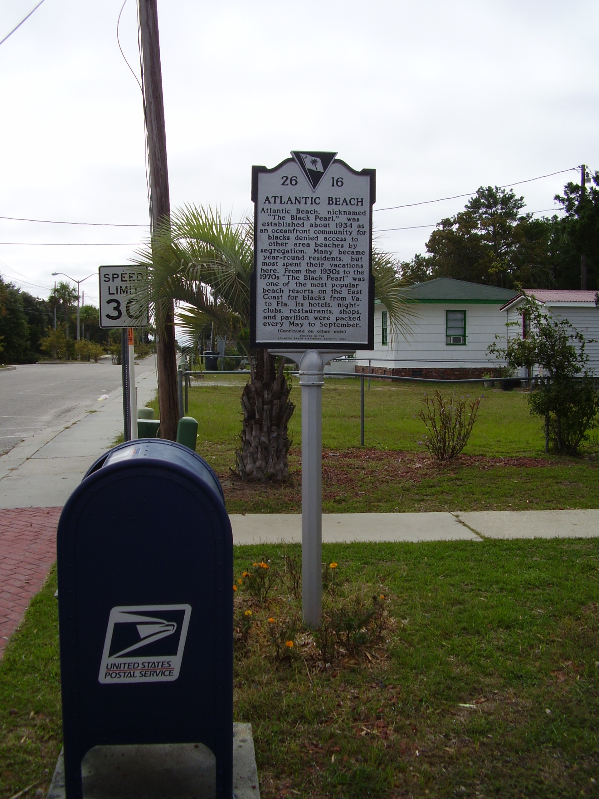 Atlantic Beach Marker