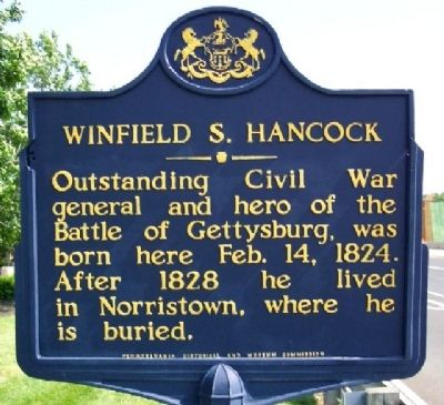 Winfield S. Hancock Marker image. Click for full size.