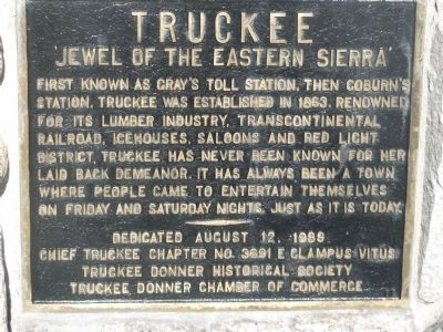 Truckee Marker image. Click for full size.