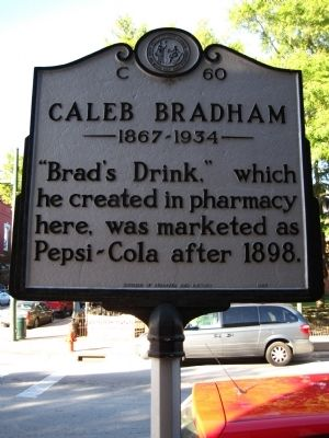Caleb Bradham Marker image. Click for full size.