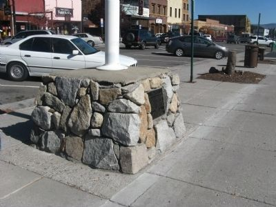 Truckee Marker and Flag Pole Base image. Click for full size.