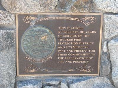 Flagpole Dedication Plaque image. Click for full size.