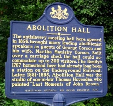 Abolition Hall Marker image. Click for full size.