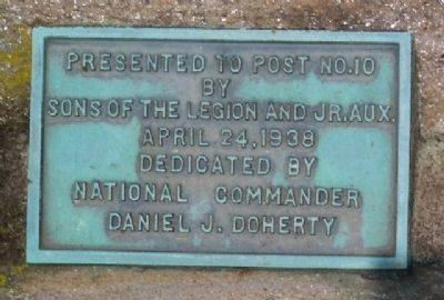 American Legion Flagpole Dedication Marker image. Click for full size.