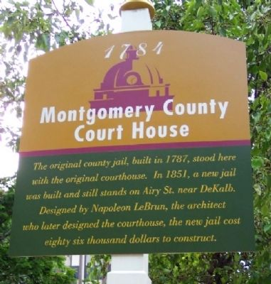 Montgomery County Court House Marker image. Click for full size.