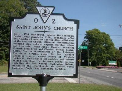 Saint John's Church Marker image. Click for full size.