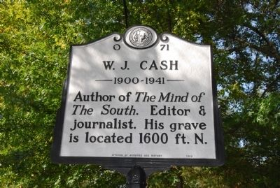 W. J. Cash Marker image. Click for full size.