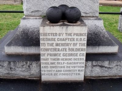 Confederate Soldiers of Prince George Co. Marker image. Click for full size.