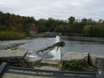 "Looking from the ""Stonewall Jackson at Dam 5 Marker"" across the river to the West Virginia side image. Click for full size."
