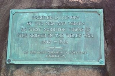 West Norriton Township World War Memorial image. Click for full size.