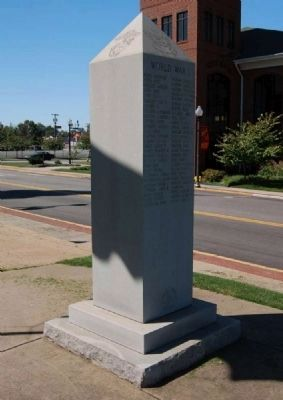 Cherokee County Veterans Monument -<br>West Corner image. Click for full size.