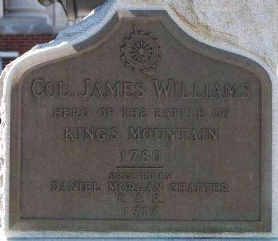 Col. James Williams Marker image. Click for full size.