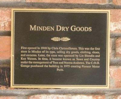 Minden Dry Goods Marker image. Click for full size.