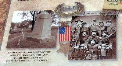 Lower Left Section - - Knox County Veterans Memorial Park Marker image. Click for full size.