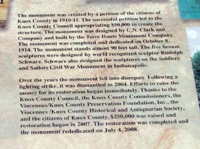 Upper Right Section - - Knox County Veterans Memorial Park Marker image. Click for full size.