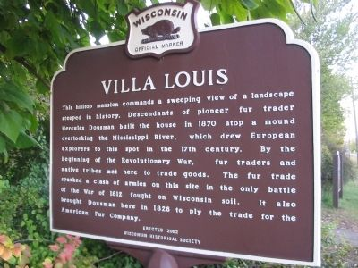 Villa Louis Marker <i>[south side]</i> image. Click for full size.