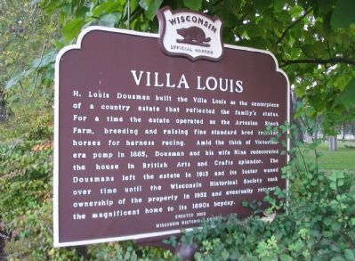 Villa Louis Marker <i>[north side]</i> image. Click for full size.