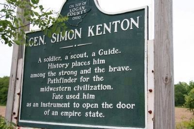 Gen. Simon Kenton Marker image. Click for full size.