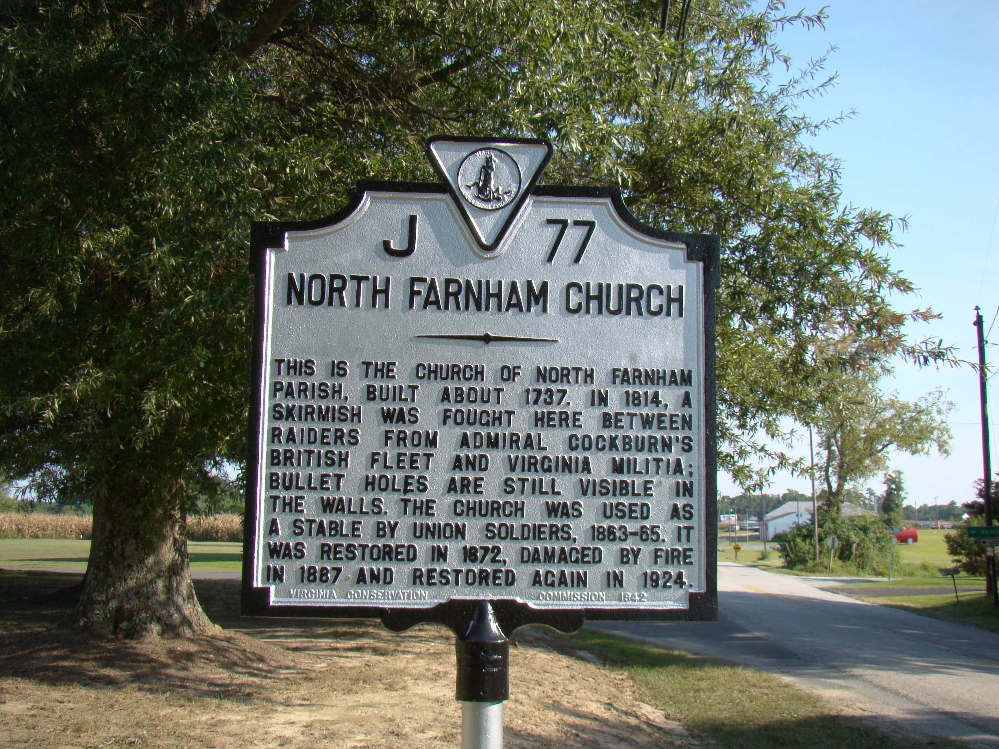 North Farnham Church Marker