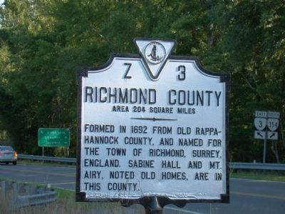 Richmond County face of Marker image. Click for full size.