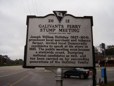 Galivants Ferry Stump Meeting Marker image. Click for full size.