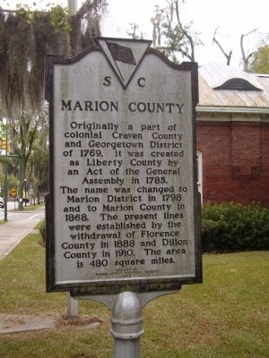 Marion County Marion Courthouse Marker image. Click for full size.