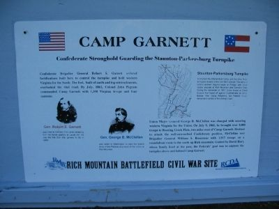 Camp Garnett Marker image. Click for full size.