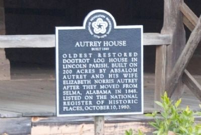 Autrey House Marker image. Click for full size.