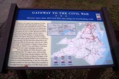 Gateway to the Civil War Marker image. Click for full size.