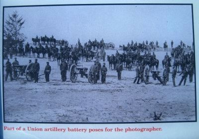 Part of a Union artillery battery poses for the photographer image. Click for full size.