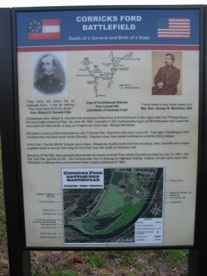 Corricks Ford Battlefield Marker image. Click for full size.